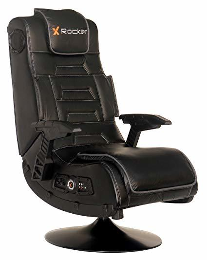 X-Rocker 5125401 2.1 Bluetooth Wireless Audi pedestal video gaming chair