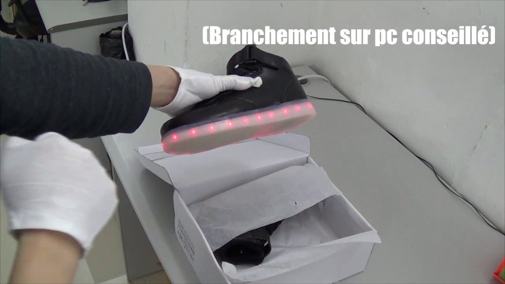 recharger ses chaussures LED